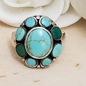 Jewelry - Sterling Silver Vintage Turquoise Gemstone Ring